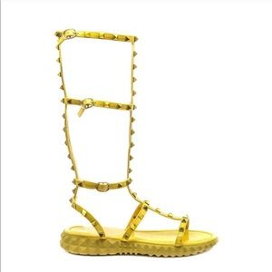 NWT Cape Robbin Yellow Gladiator Sandals